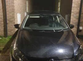 Volkswagen Golf, 2010 (60) Black Hatchback, Manual Petrol, 75,500 miles