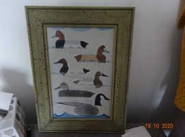 1934 Wild Duck &geese Original painting