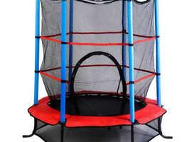 COSTWAY Children's Trampoline with Safety Net Enclosure (SP34224)