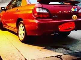 Subaru Impreza, 2001 (Y) Red Saloon, Manual Petrol, 184,279 miles