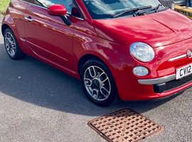 Fiat 500, 2012 (12) Red Hatchback, Manual Petrol, 76,000 miles
