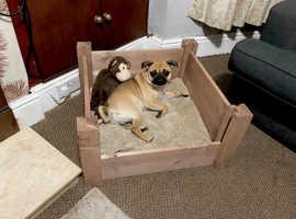 DOG WHELPING BOX DOG BASKET - 70X70X30HIGH