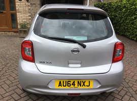 Nissan Micra, 2014 (64) Silver Hatchback, Cvt Petrol, 10,751 miles