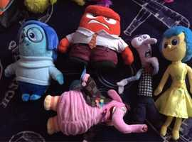 5 Inside Out movie teddy's from Disney Pixar bundle sale