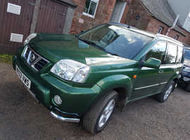 Nissan X-TRAIL, 2003 (03) Green Estate, Manual Petrol, 77,800 miles
