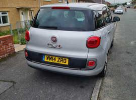 Fiat 500L MPW, 2014 (14) Silver MPV, Manual Diesel, 71,926 miles