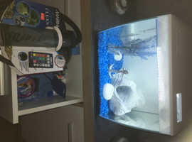 Tropical fish tank with all equipment and accessories