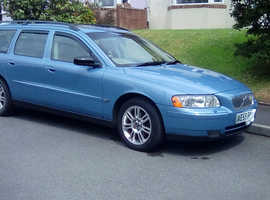 Volvo V70, 2005 (55) blue estate, Automatic Petrol, 104000 miles