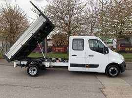 Renault Master 2.2 LL35 TWdCi 125 Business Low Roof D/Cab Tipper Lovely Example, in Super Condition Throughout with Service History