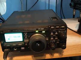 mint boxed yaesu ft 897 d shack in a box 100w output hf/6m/2m/70 cms cb radio amateur ham radio