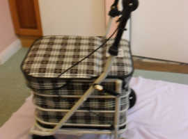 PRESTIGE ULTIMATE SHOPPING TROLLEY WITH SEAT - VGC