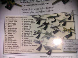 Giant warplanes model collection