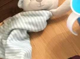 Lost - Teddy Bear Comforter Blue - Bolton Town Centre - Reward!!!