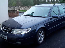 Saab 9-5, 2003 (53) Blue Estate, Automatic Diesel, 171,000 miles