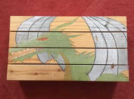 Dragon trinket storage box - Handmade
