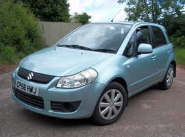 Suzuki Swift SX4, 2006 (56) Blue Hatchback, Manual Petrol, 66,000 miles