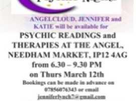 Suffolk & Norfolk Psychic nights at Needham market 12th March 2020