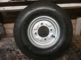 Trailer wheel with tyre