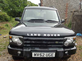 Land Rover Discovery, 2002 (52) Black Estate, Manual Diesel, 170,000 miles
