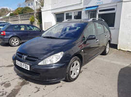 Peugeot 307, 2005 (05) Black Estate, Manual Diesel, 91,000 miles