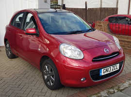 Nissan Micra, 2013 (13) Red Hatchback, Manual Petrol, 21,700 miles
