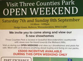 Open Weekend 7th & 8th September