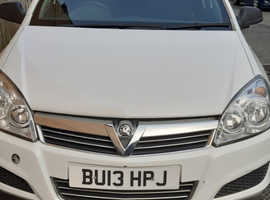 White Vauxhall astra club van