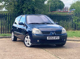 Renault Clio, 2003 (52) Blue Hatchback, Manual Petrol, 116,467 miles, LONG MOT