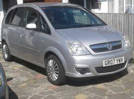 Vauxhall Meriva, 2007 (07) Silver MPV, Manual Petrol, 74,000 miles