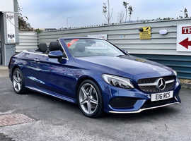 2017/67 Mercedes C250d 2.1 AMG-Line Cabriolet G-Tronic+ finished in Premium Blue Metallic. , 19026 miles