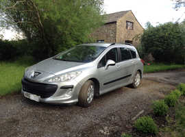 Peugeot 308, 2009 (09) Silver Estate, Manual Diesel, 75,100 miles