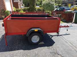 For Sale Trailer - 6ft x 3ft 6in bed - un braked - 750kg (with ante theft built in) plus a tarpaulin cover