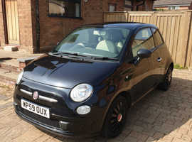 Fiat 500, 2009 (59) black hatchback, Manual Petrol, 50,000 miles