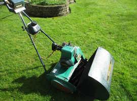 Qualcast Suffolk Punch 43S self propelled petrol cylinder lawn mower.