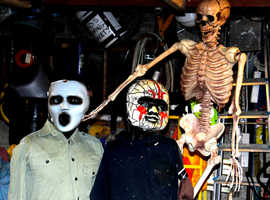 I have for sale a selection of mannequins. Also included is a tall skeleton with movable arms