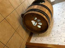 Dog kennel / house oak whiskey barrel