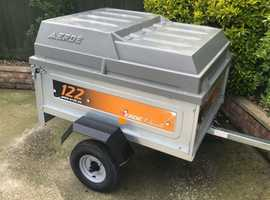 Like new Erde tipping trailer + Abs hardtop