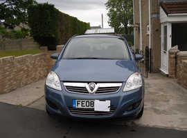 Vauxhall Zafira, 2008 (08) Blue MPV, Manual Petrol, 74,205 miles