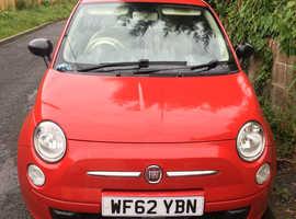 Fiat 500, 2013 (62) red hatchback, Manual Petrol, 58,300 miles