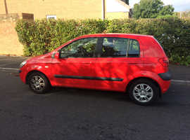 Hyundai Getz, 2008 (08) Red Hatchback, Manual Petrol, 47,600 miles