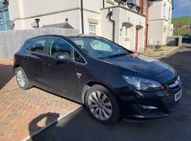 Vauxhall Astra, 2014 (64) Black Hatchback, Manual Petrol, 74,000 miles