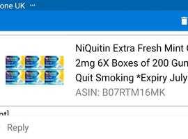 Niquitin gum