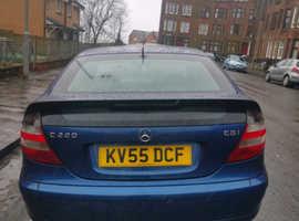 Mercedes C CLASS, 2005 (55) Blue Coupe, Automatic Diesel, 178,000 miles