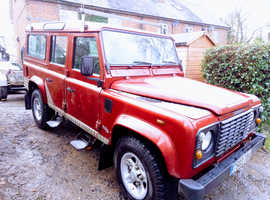 Land Rover DEFENDER 110, 1999 (T) Red Estate, Manual Diesel, 16,000 miles