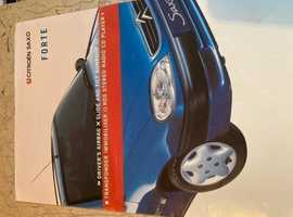Official UK Market Citroen Saxo 1.1i Forte Limited Edition Sales Brochure. Jan 2001. Great Condition.