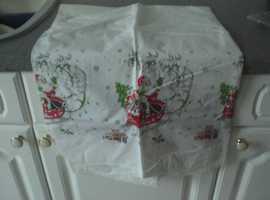Christmas– Flannel back Vinyl Table Cloth (New)