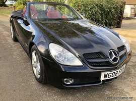 Mercedes Slk Kompresssor 2008 (08) Black Convertible, Auto Petrol, 46,681miles 200SLK FSH Superb condition