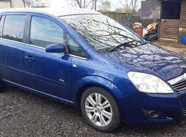 Vauxhall Zafira, 2008 (08) Blue MPV, Manual Diesel, 152,079 miles