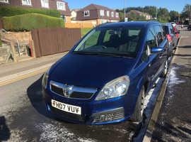 Vauxhall Zafira,life 2007 (07) Blue MPV, Manual Petrol, 143,000 miles