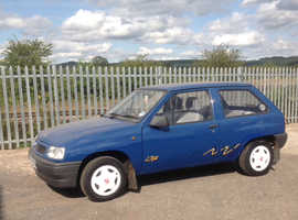 Vauxhall NOVA TRIP, 1991 (J) Blue Hatchback, Manual Petrol, 44,000 miles